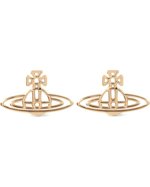 Vivienne Westwood | Metallic Thin Lines Flat Orb Stud Earrings | Lyst