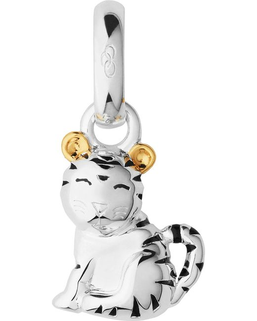 Links of London | Metallic Sterling Silver And 18-carat Yellow Gold Vermeil Chinese Zodiac Tiger Charm | Lyst