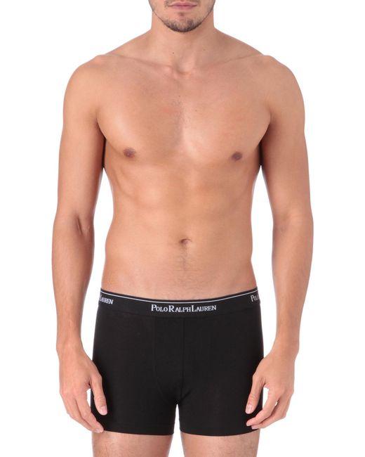 Polo Ralph Lauren - Black Three Pack Logo–waistband Trunks for Men - Lyst