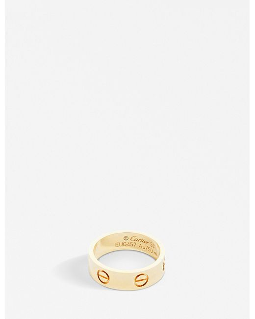 Cartier - Love 18ct Yellow-gold Ring - Lyst