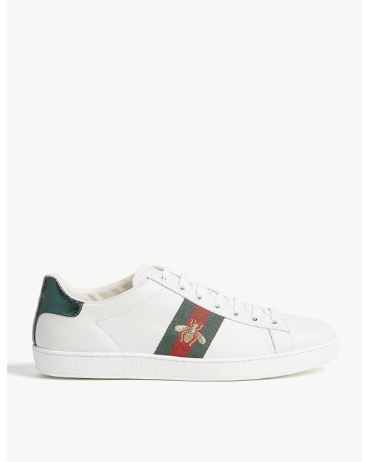 Gucci White Ace Embroidered Low-top Sneaker