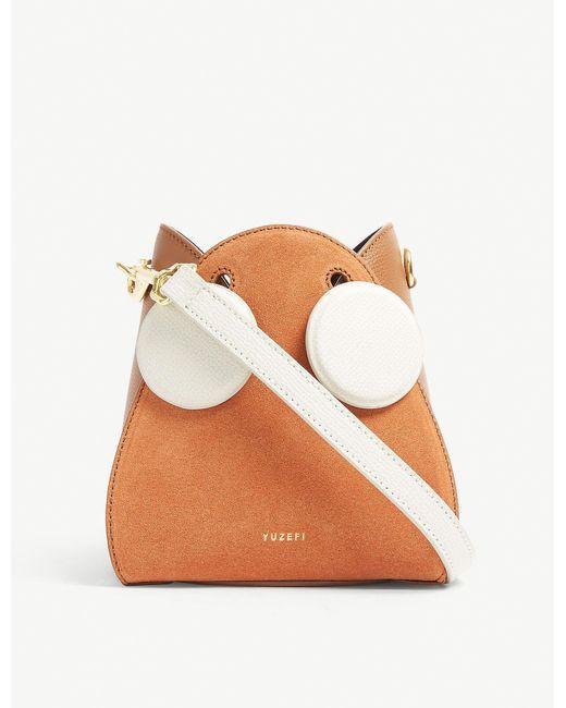 Yuzefi Multicolor Pepper Leather Cross-body Bag
