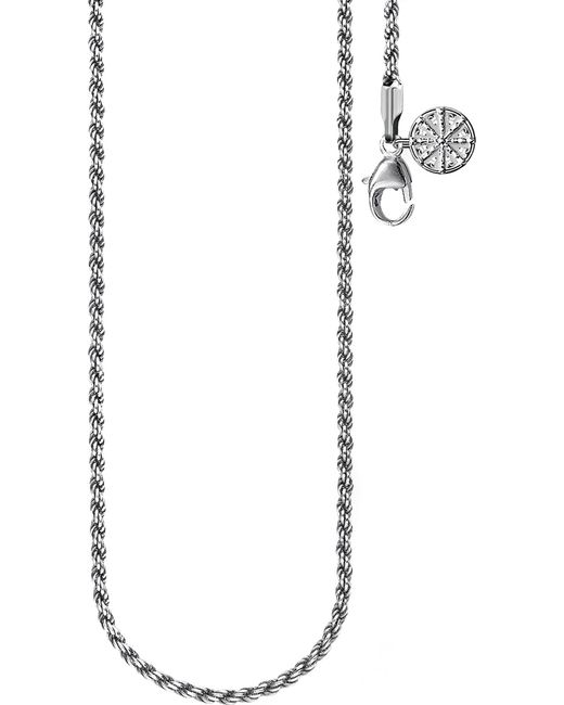 Thomas Sabo - Metallic Karma Wheel Sterling Silver Necklace - Lyst