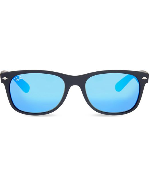 c3c0bd5366 Lyst - Ray-Ban Rb3132 New Wayfarer Square Sunglasses in Blue for Men