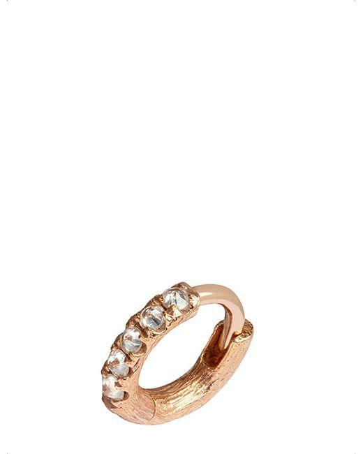 Annoushka - Metallic Dusty Diamonds 18ct Rose Gold And Diamond Earring - Lyst