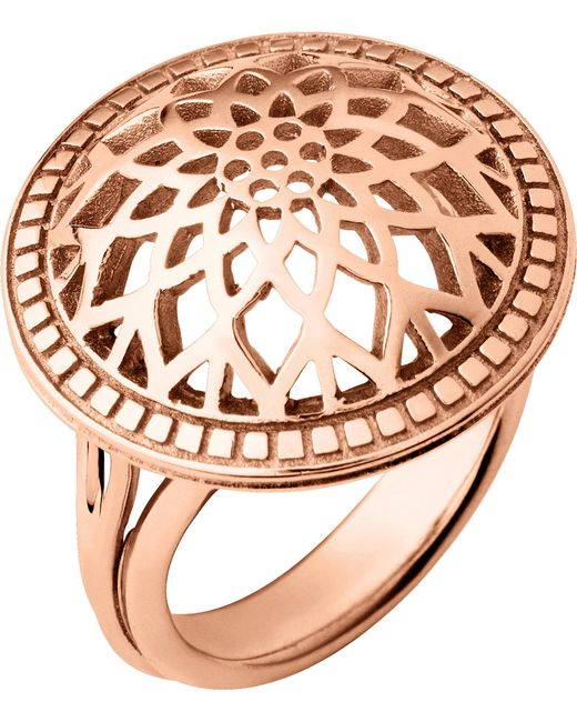 Links of London   Metallic Timeless 18ct Rose-gold Vermeil Domed Ring   Lyst