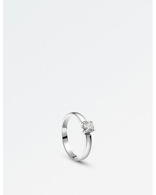 BUCHERER JEWELLERY - Solitaire Allure 18ct White Gold And Diamond Ring - Lyst