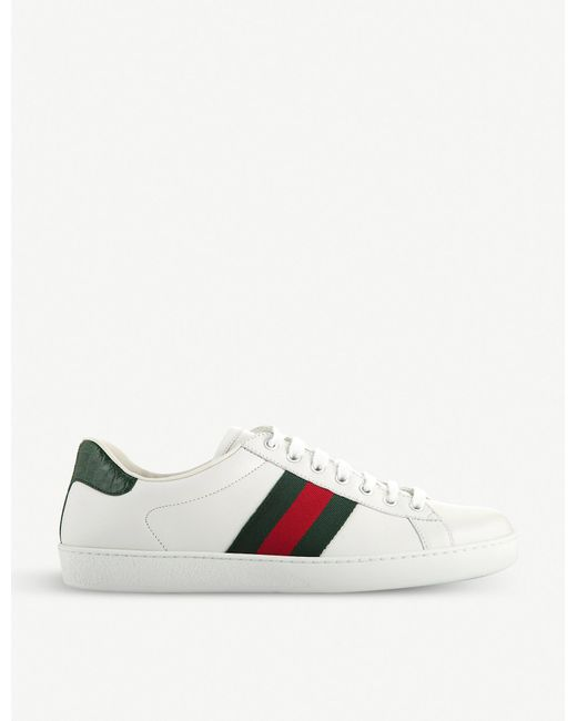 Gucci White Ace Leather Sneaker for men