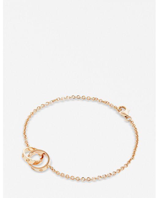 Cartier - Love 18ct Pink-gold Bracelet - Lyst