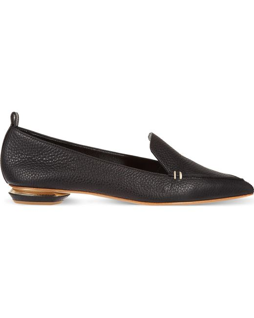 Nicholas Kirkwood Black Pointy Slippers