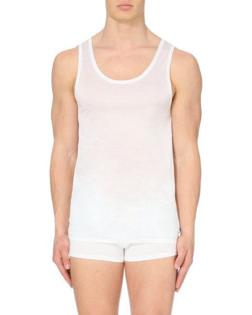 Derek Rose - Black Lewis Mercerised-cotton Vest for Men - Lyst