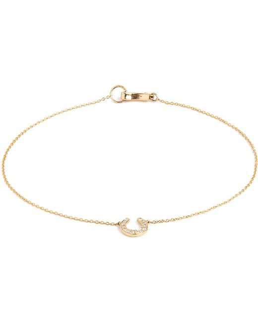 Annoushka | Love Diamonds 18ct Yellow-gold Horseshoe Bracelet | Lyst