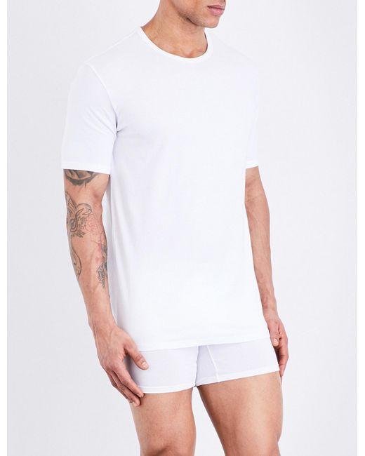 Lyst calvin klein id slim fit stretch cotton t shirt in for Calvin klein slim fit stretch shirt