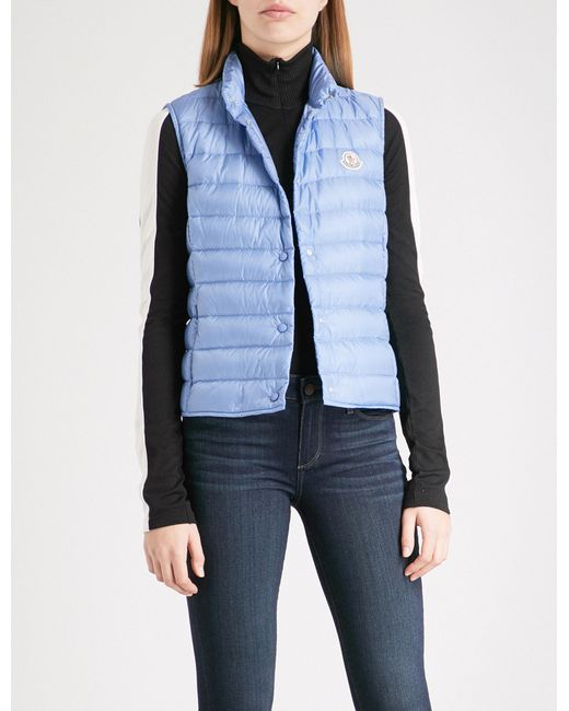 a63a7bf17 Lyst - Moncler Liane Quilted Shell Down Gilet in Blue