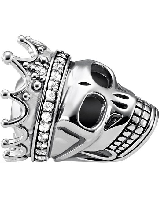 Thomas Sabo - Metallic Skull Queen Sterling Silver Karma Bead - Lyst
