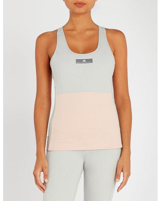 Adidas By Stella McCartney - Multicolor Yoga Comfort Stretch-jersey Top - Lyst