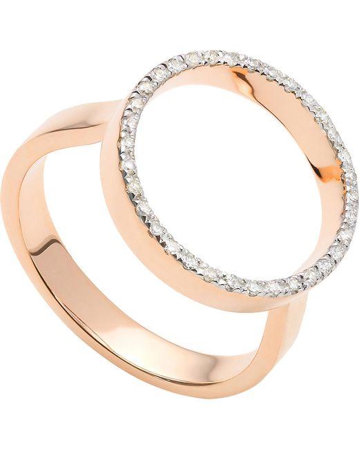 Monica Vinader - Metallic Naida Diamond Circle Ring - Lyst