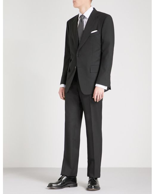 Tom Ford Black Windsor Two-piece Wool Suit for men