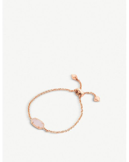 Kendra Scott - Metallic Elaina 14ct Rose Gold-plated Iridescent Drusy Bracelet - Lyst