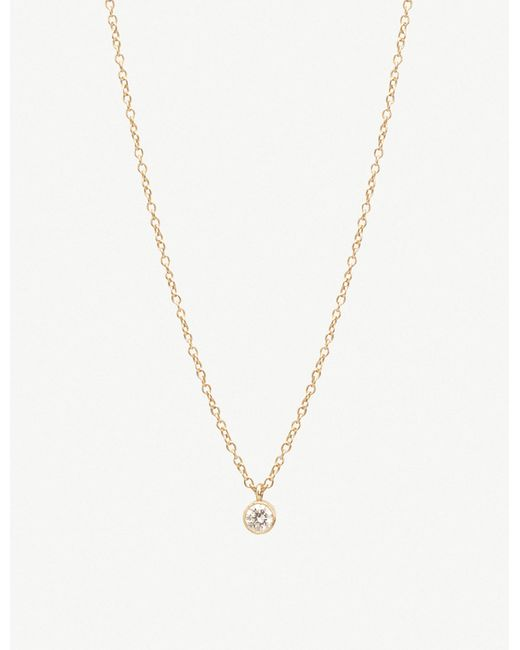 The Alkemistry - Metallic Zoë Chicco 14ct Yellow-gold And Diamond Drop Choker Necklace - Lyst
