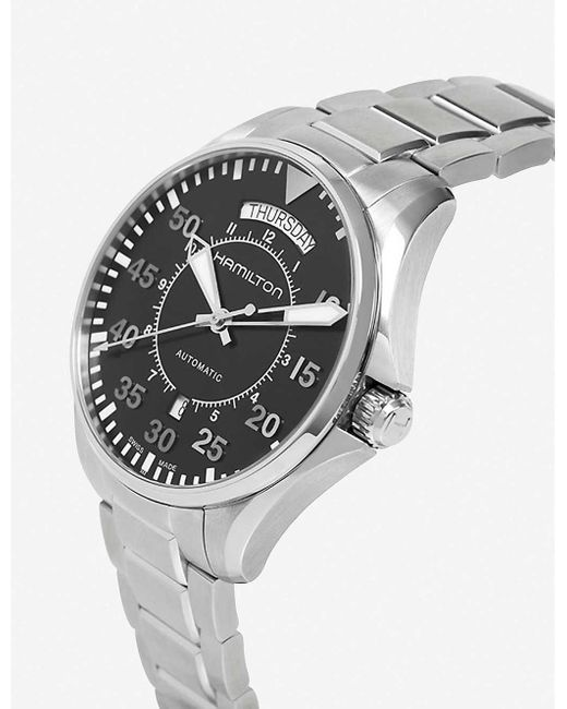 Hamilton Metallic H64455133 King Auto Stainless Steel Watch for men
