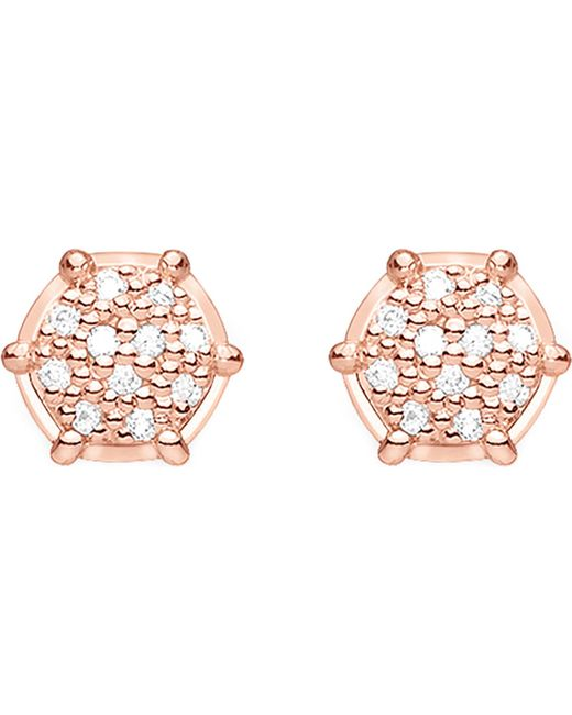 Thomas Sabo - Metallic Glam & Soul 18ct Rose Gold-plated And Diamond Earrings - Lyst