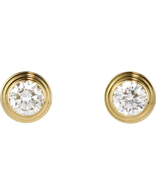 Cartier | Diamants Légers De 18ct Pink-gold And Diamond Earrings | Lyst
