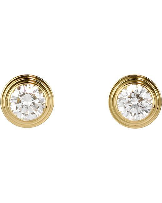 Cartier - Diamants Légers De 18ct Pink-gold And Diamond Earrings - Lyst