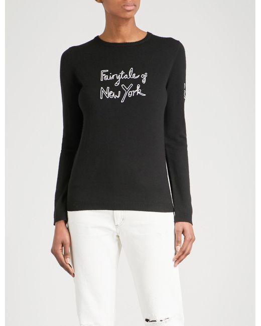 Bella Freud - Black Fairytale Of New York Merino Wool Jumper - Lyst