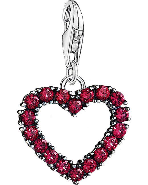 Thomas Sabo - Red Charm Club Sterling Silver Heart Charm - Lyst