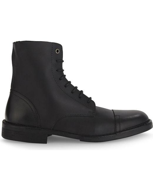 DIESEL | Black D-pit Leather Boots for Men | Lyst