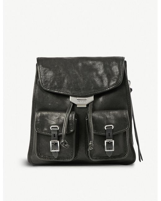 Rag & Bone - Black Leather Field Backpack - Lyst