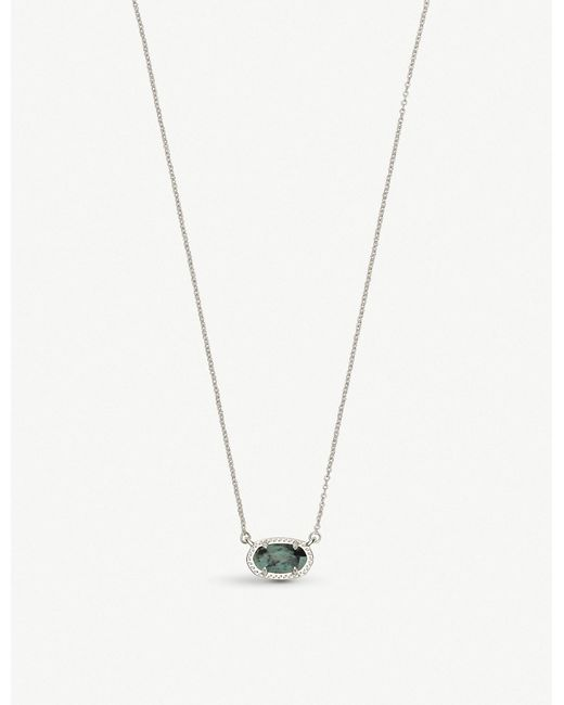 Kendra Scott - Metallic Ember Rhodium-plated And African Turquoise Necklace - Lyst