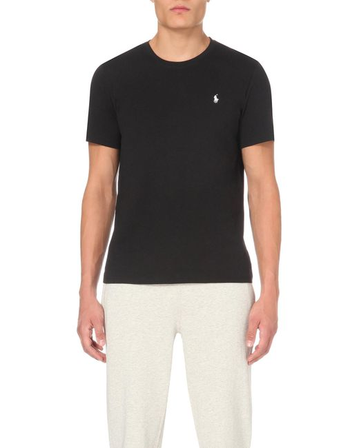 Polo Ralph Lauren - Black Classic Cotton-jersey T-shirt for Men - Lyst
