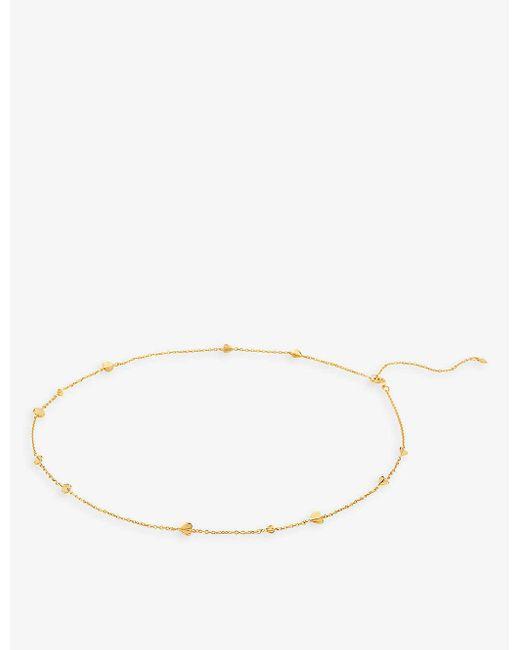 The Alkemistry Metallic Dinny Hall Bijou Folded Heart 22ct Yellow Gold-plated Vermeil Necklace