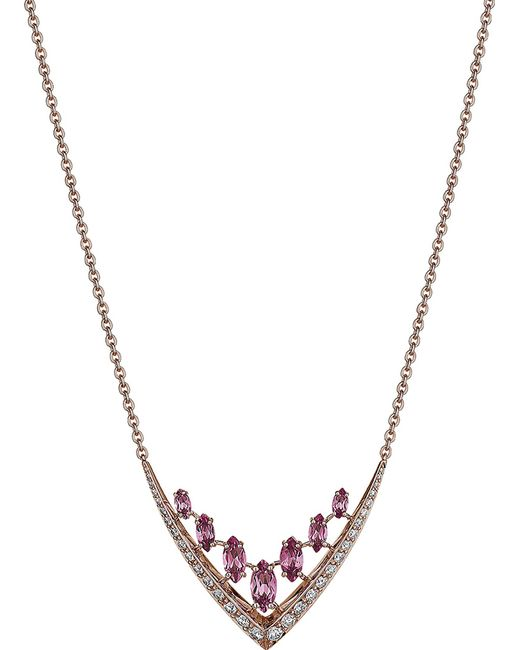 Shaun Leane - Metallic Aerial 18ct Rose Gold And Diamond Necklace - Lyst