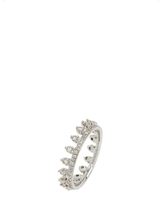 Annoushka - Black 18ct White Gold And Diamond Crown Ring - Lyst