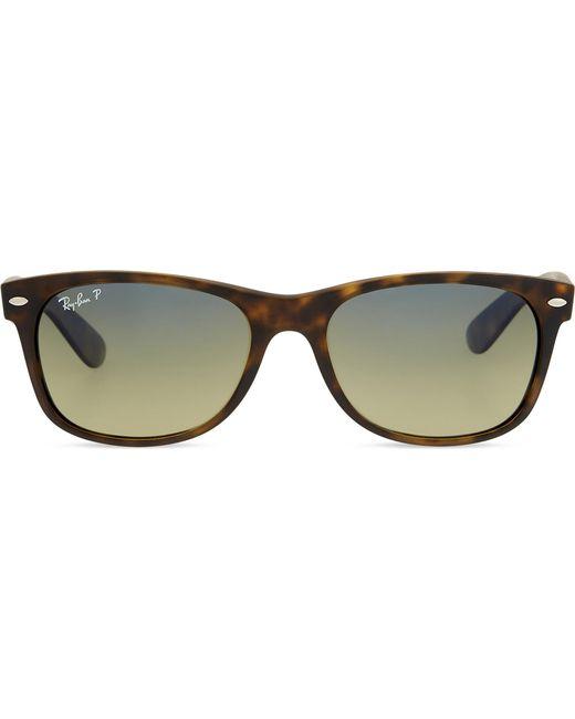 75ebcef546 Lyst - Ray-Ban Rb2132 Tortoiseshell New Wayfarer Sunglasses in Brown