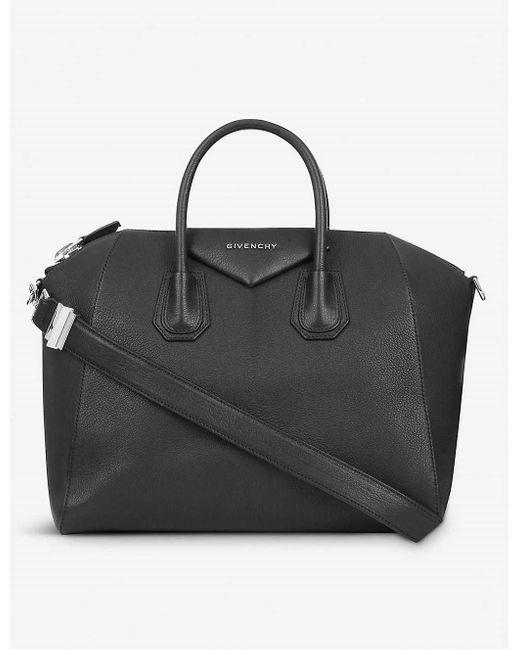 Givenchy Ladies Black Soft-grained Leather Antigona Sugar Tote Bag