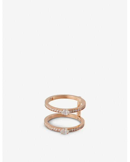 Repossi Metallic Harvest 18ct White-gold And Diamond Ring