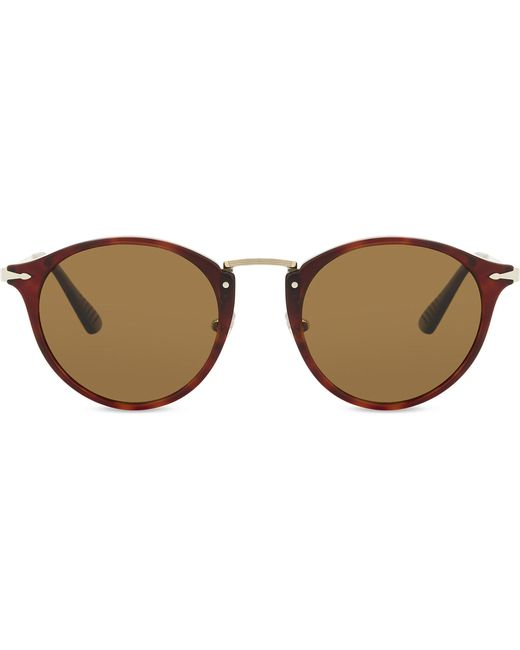 Persol - Brown Po3166s Round-frame Tortoiseshell Sunglasses - Lyst