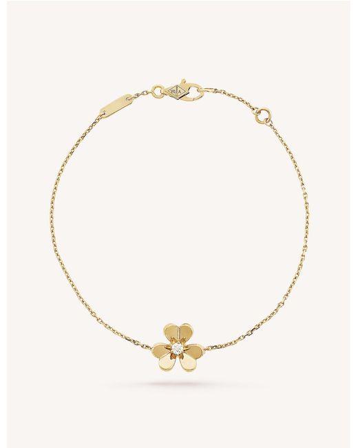 Van Cleef & Arpels Metallic Frivole Yellow-gold And Diamond Bracelet