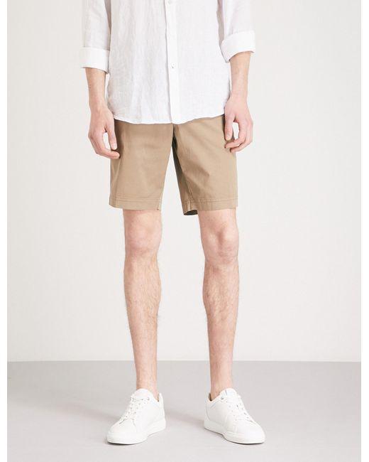 Stemar - Natural Regular-fit Stretch-cotton Shorts for Men - Lyst