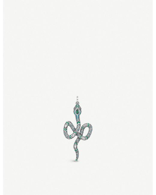 Thomas Sabo - Metallic Tropical Sterling Silver And Coloured Stone Snake Pendant - Lyst