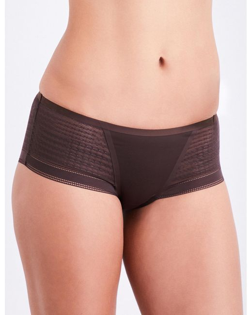 Simone Perele | Brown Muse Jersey And Mesh Shorty Briefs | Lyst