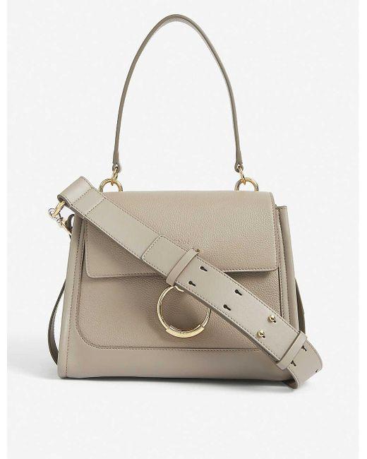 Chloé Gray Tess Day Small Leather Cross-body Bag
