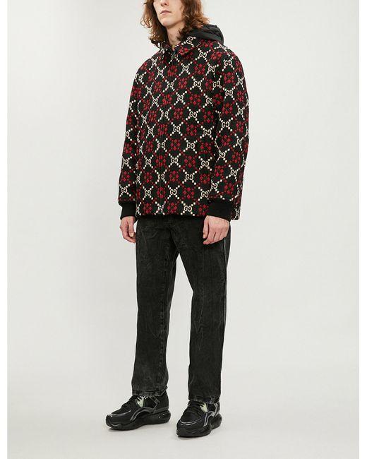 19211c5d23af Lyst - Gucci GG-motif Wool Coat in Black for Men
