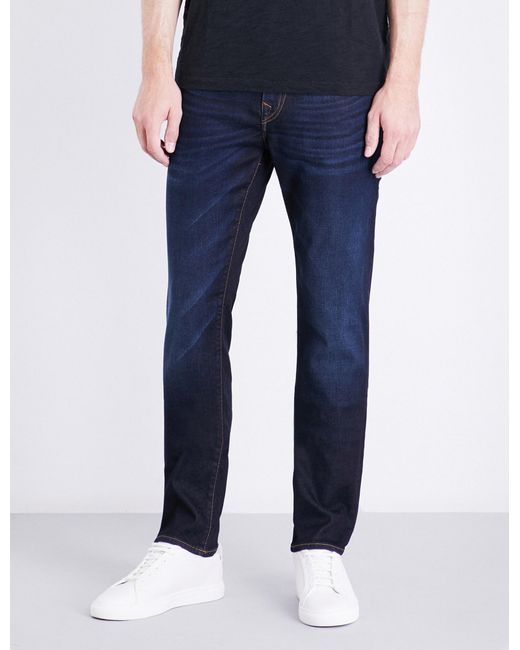 True Religion | Blue Rocco Relaxed-fit Skinny Jeans for Men | Lyst