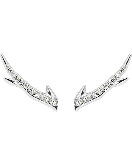 Shaun Leane | Metallic Cherry Branch Silver And Diamond Earrings | Lyst