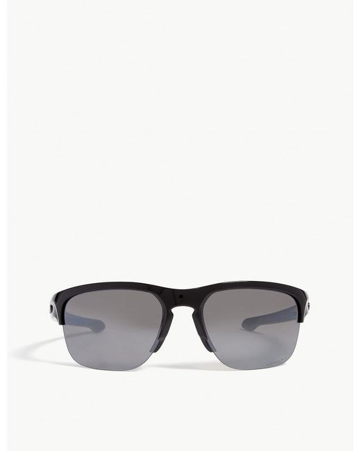 521e8753032 Lyst - Oakley Sliver Edge Wrap Around Sunglasses in Black for Men
